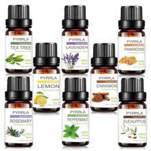 Pyrrla 8pcs Pure Essential Oil Gift Set Lavender Tea Tree Lemon Relive Stress Refreshing Massage Aromatherapy Essential Oils