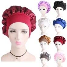 Bonet Satin Sleeping Hat Night Sleep Cap Hair Care Bonnet Nightcap for Women Men Cap Bonnet De Nuit