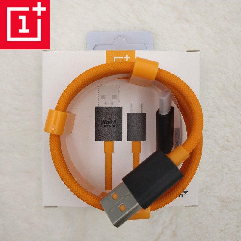 100% Original Oneplus 7 pro dash Warp cable de cargador Mclaren 4A rápido de carga rápida usb cable de tipo c para 1 + 3t 5t 5t 6t 7t