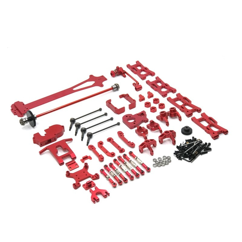 WLtoys 1/12 124016 124017 124018 124019 RC Car Upgrade and Modification Parts 21 Sets of Metal Accessories