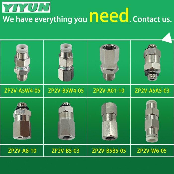YIYUN SMC tipo de válvula auxiliar neumático elemento ZP2V-A5-03 ZP2V-A5-05 ZP2V-A5-07 ZP2V serie
