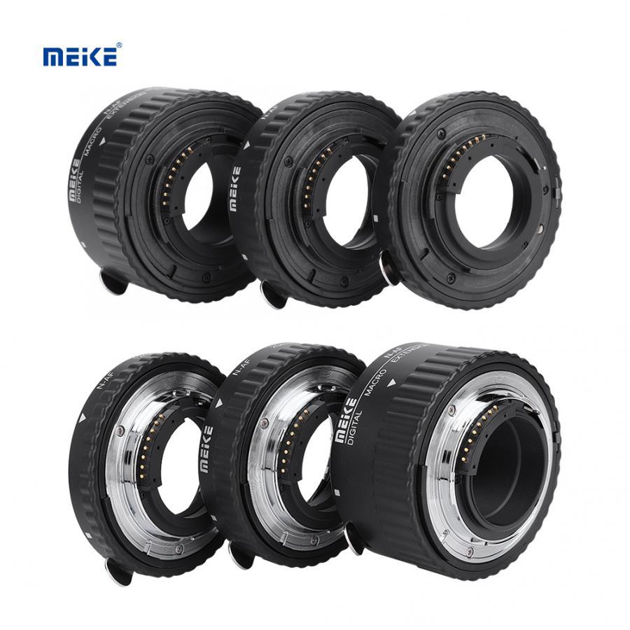 Meike macro anillo de enfoque automático Macro extensión lente tubo 12mm + 20mm + 36mm para Nikon F montaje DSLR Cámara lente Accesorios