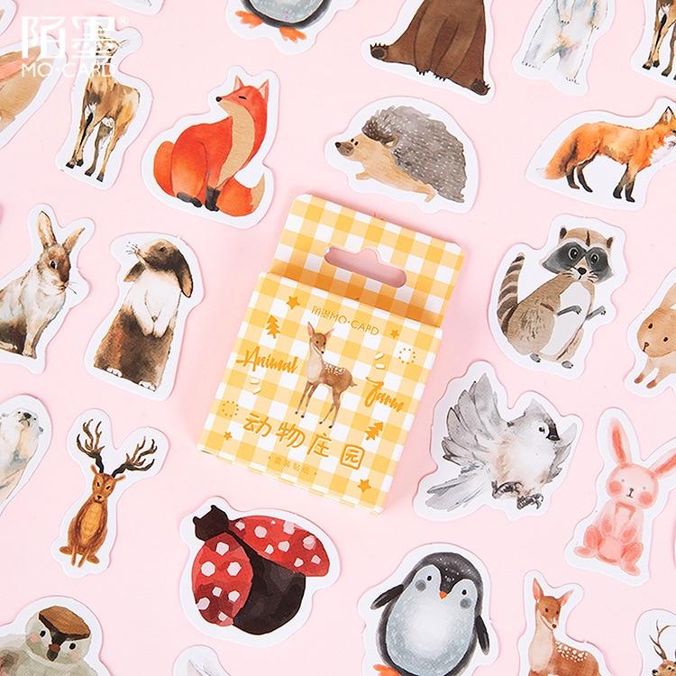 46 pcs/pack Animal Farm Giraffe  Decorative Stationery Stickers Scrapbooking DIY Diary Album Stick