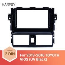 Harfey 10.1 inch UV Black car radio Frame for 2013 2014 2015 2016 TOYOTA VIOS Audio Dash Trim Fascia Panel Kit