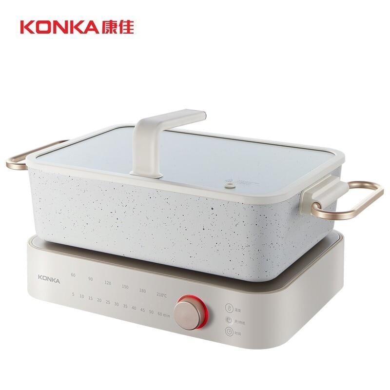 KONKA متعددة الوظائف وعاء الطبخ وعاء المنزلية وعاء كهربائي مقلاة كهربائية فرن الغليان عموم غير عصا عموم الأبيض