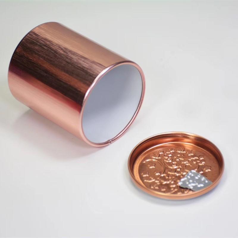 Mini caja de Metal para guardar joyas, lata de té de aluminio, recipiente portátil pequeño de viaje, tarro pequeño, organizador de café y azúcar