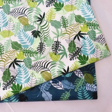 Cotton Quilting Fabric Printing Leaf Cloth for DIY Sewing Bed Sheet Dress making cotton fabric