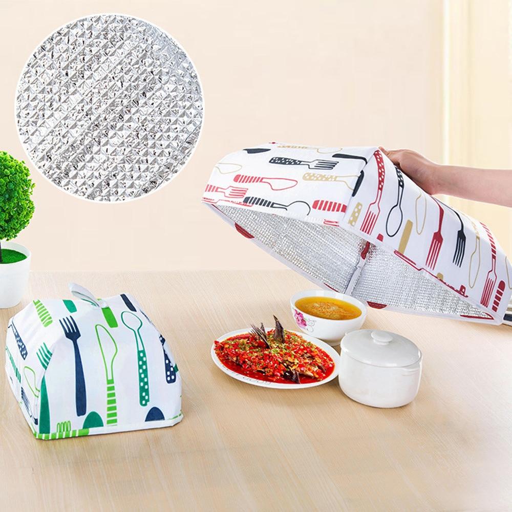 Cubiertas plegables para alimentos, papel de aluminio para mantener el calor, aislamiento de comida, útiles utensilios de cocina, accesorios #25