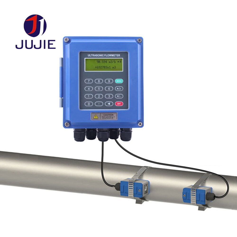 Medidor de flujo ultrasónico de alta precisión de calidad para medición de agua del grifo agua aceite líquido puro abrazadera sonda DN300-DN6000 RS485 4-20mA
