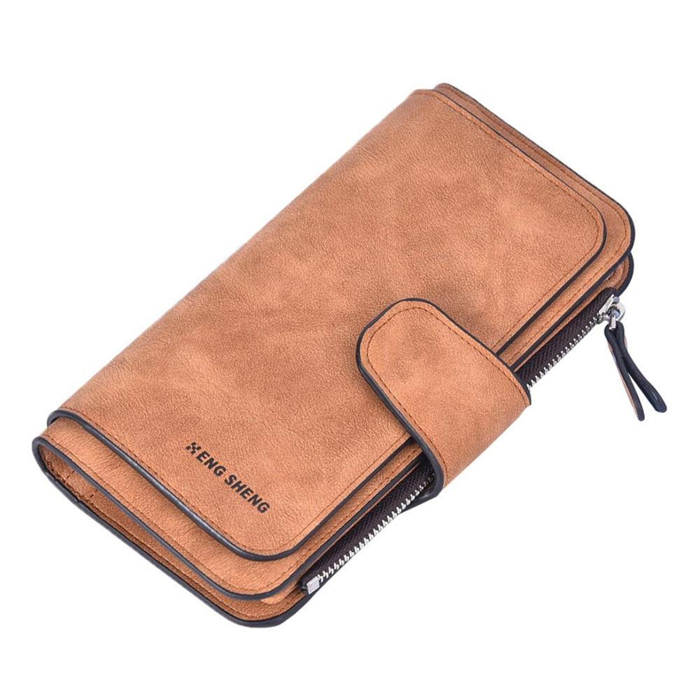 Woman Card Bag Solid Dull Polish Hasp Multi Card Position Wallets carteras mujer hand purse women portfel  Tri-Folds Wallet Lady