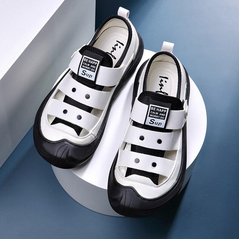 Мужские летние сандалии, удобные дышащие шлепанцы, спортивная обувь для отдыха, пляжная обувь, мужские сандалии, новинка 2021