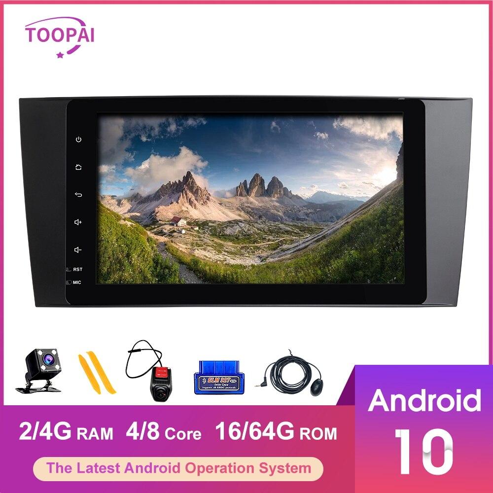 TOOPAI, Android 10, para Mercedes Benz W203, CLK200, Volkswagen Crafter LT3, Radio Estéreo, navegación GPS, reproductor Multimedia automático
