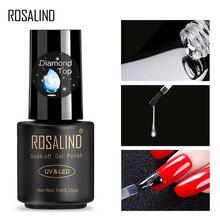ROSALIND Gel vernis à ongles couche de fond supérieure 7ml diamant Transparent longue durée manucure UV apprêt Gel laque Art des ongles couche de fond