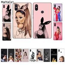 MaiYaCa Ariana Grande diseño único negro Funda de teléfono para Xiaomi 8 9 se 5X Redmi 6pro 6A 4X 7 5plus Nota 5 7 6pro
