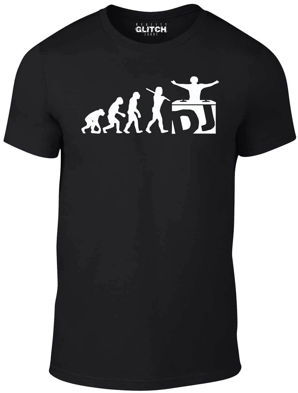 Camiseta DJ Evolution-divertida camiseta mezcladora de música Djing Disk Jockey giradiscos Cool Casual pride camiseta hombres Unisex nueva moda