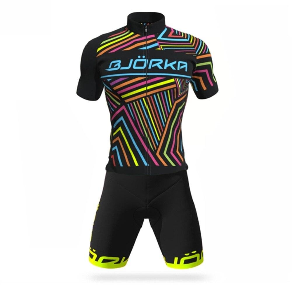 Комплект одежды BJORKA мужской для велоспорта, профессиональная команда, Джерси с коротким рукавом, комплект одежды для велоспорта, лето