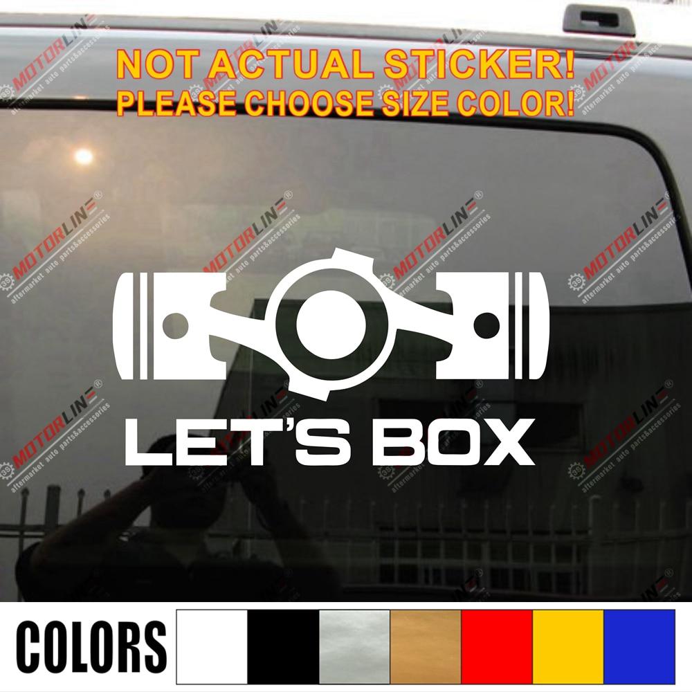 Let's Box Boxer Flat Engine JDM Funny Car Decal Sticker Vinyl Fit for Subaru Wrx Sti Impreza Die cut no background