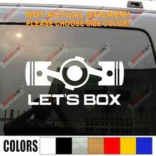 Autocollants en vinyle pour Subaru Wrx Sti Impreza Die cut   Autocollant de voiture humoristique, boîte Boxer, moteur plat, JDM