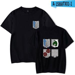 Attack On Titan Anime T-shirts Cosplay Print Harajuku Men Women T Shirts Tee Shirt Casual Short Sleeve O-neck t-shirt Tops