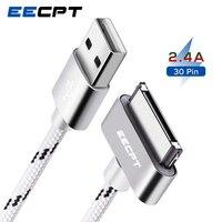 USB-кабель EECPT для iPhone 4S 4 s iPad 2 3 iPod Nano iTouch 30 Pin, оригинальный зарядный кабель, нейлоновый плетеный провод, шнур для зарядки и передачи данных