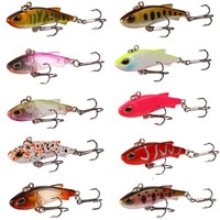 1 Set VIB Fishing Lure Lead Swim Minnow Wobbler Hard Bait 4g18g Artificial Crankbait Winter Sea Fishing Bass Diving Swivel Bait