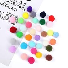 500Pcs 10mm Kids Creative DIY Soft Round Fluffy PomPoms Ball Mix Color Decoration Plush Painting Ball Eye Toy Gift 200Pcs 1.5cm