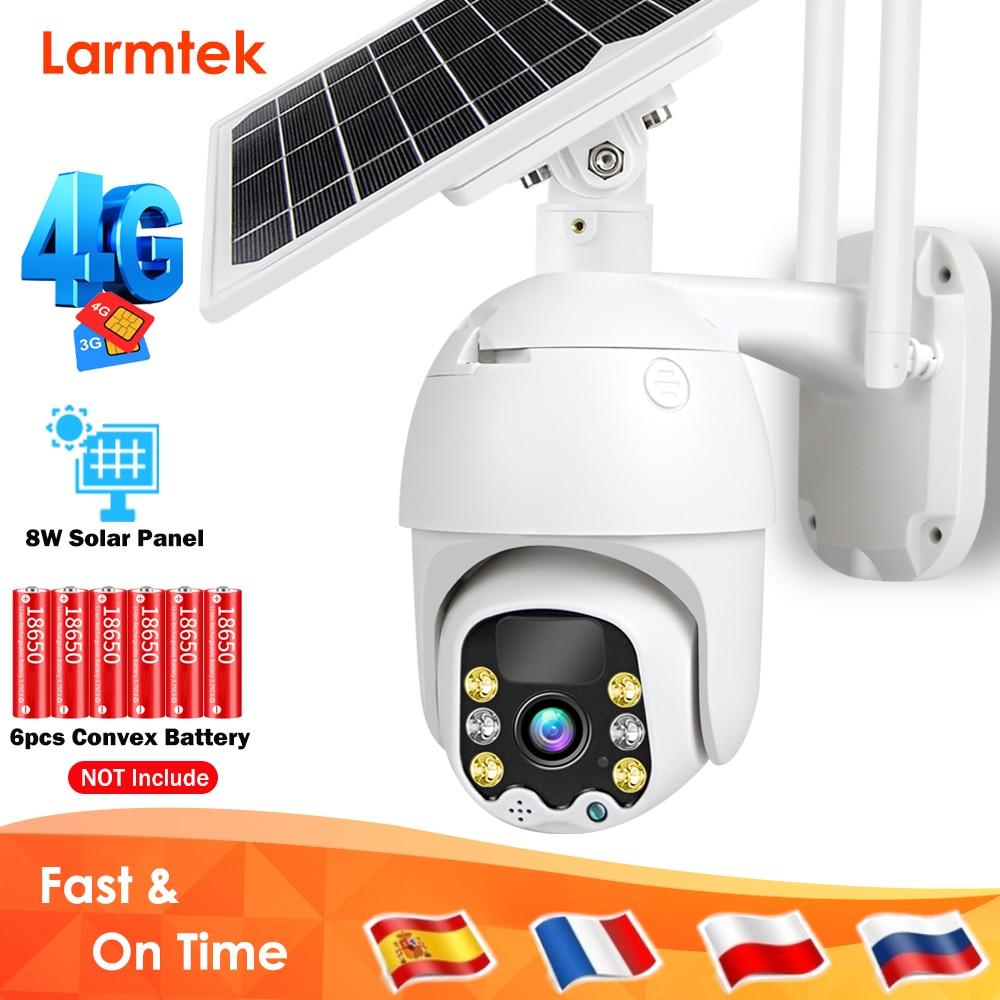 Video Surveillance Camera 4G SIM Card Solar Camera 1080P PTZ WiFi IP Camera Battery CCTV Outdoor Two Way Audio Motion Detection