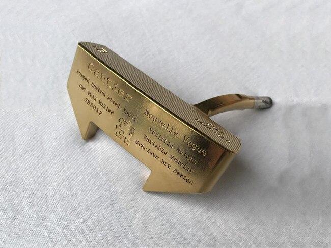 Jean Baptiste Gautier JB301P Putter Jean Baptiste JB301P Golf Putter oro clubes de Golf/33/34/35 pulgadas eje de acero con cubierta de la cabeza