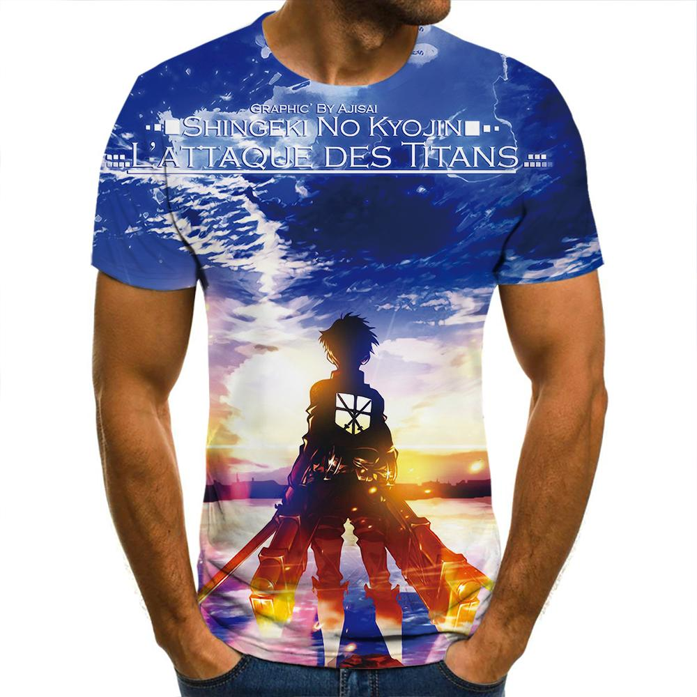 Camiseta de manga corta 3d para hombre, Camiseta informal de moda para...