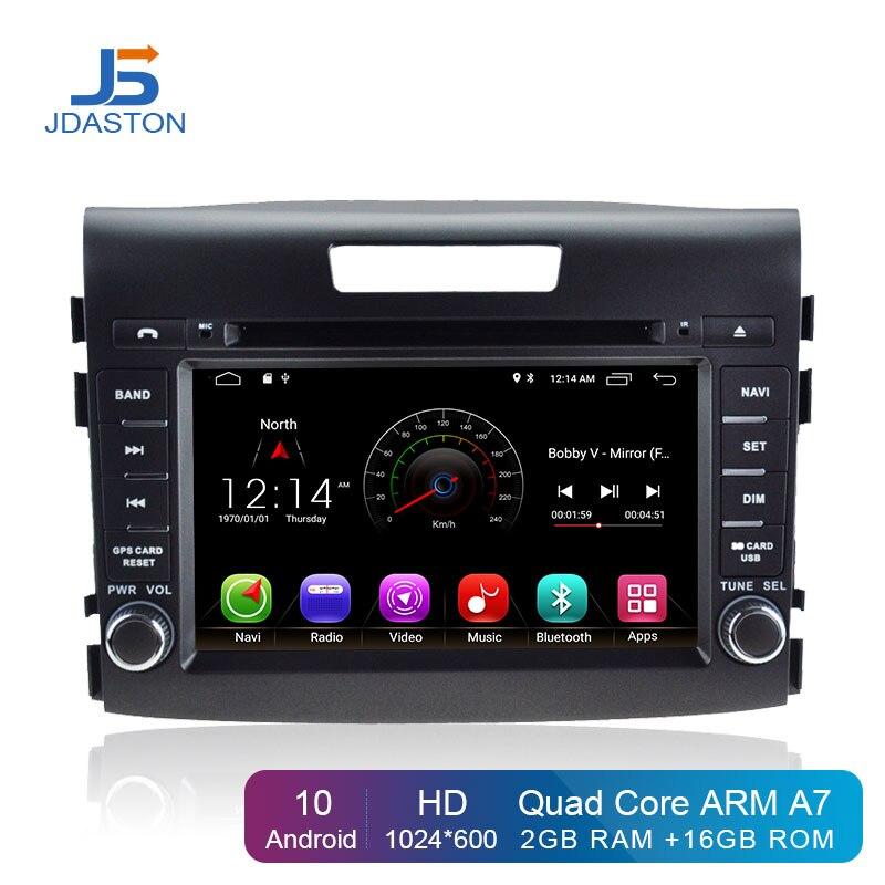 JDASTON الروبوت 10.0 سيارة الوسائط المتعددة لاعب لهوندا CRV CR-V CR V 2012-2016 2 الدين سيارة راديو GPS للملاحة DVD IPS WIFI ستيريو