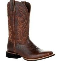 Ботинки в ковбойском стиле унисекс, зимняя обувь из искусственной кожи, с вышивкой, в западном стиле, черные, коричневые, большие размеры 48