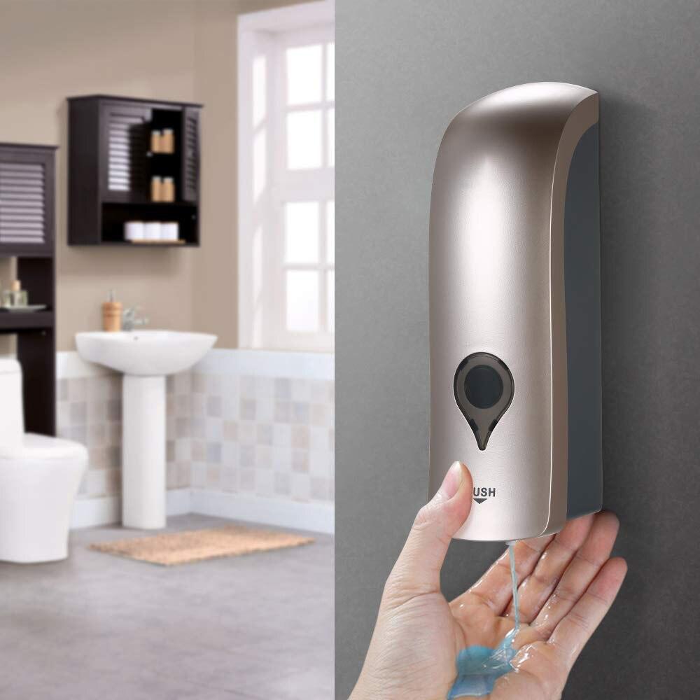 Soporte de pared para dispensador de jabón y champú de ducha Manual de 300 ML, soporte dispensador de bomba de ducha para Hotel hogar en 4 colores