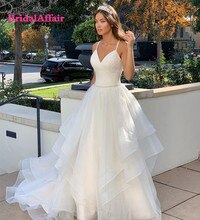 2021 Wedding Dress Sweetheart Sweep Train Sleeveless Tulle White Bridal Gown Sleeveless Charming Ball Gown Women Custom Made