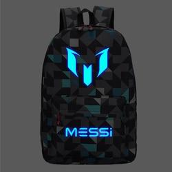 Messi mochila adolescente faculdade saco do ensino médio para adolescente menino mochila preto masculino volta pacote crianças livro 2020