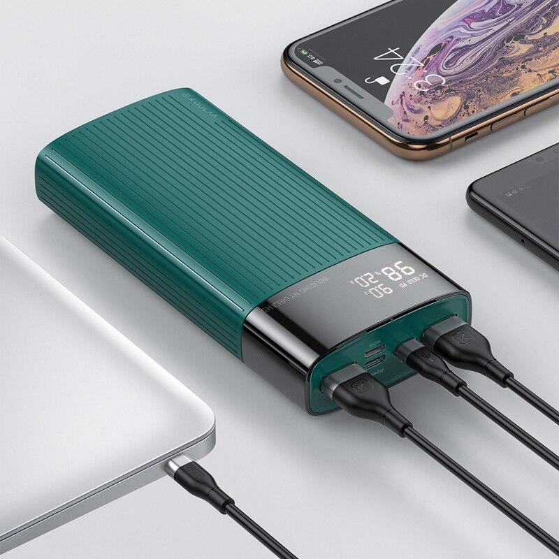 خازن الطاقة 20000 mAh QC PD 3.0 خازن الشحن السريع PowerBank 20000 mAh USB شاحن بطارية خارجية ل شاومي Mi 10 9