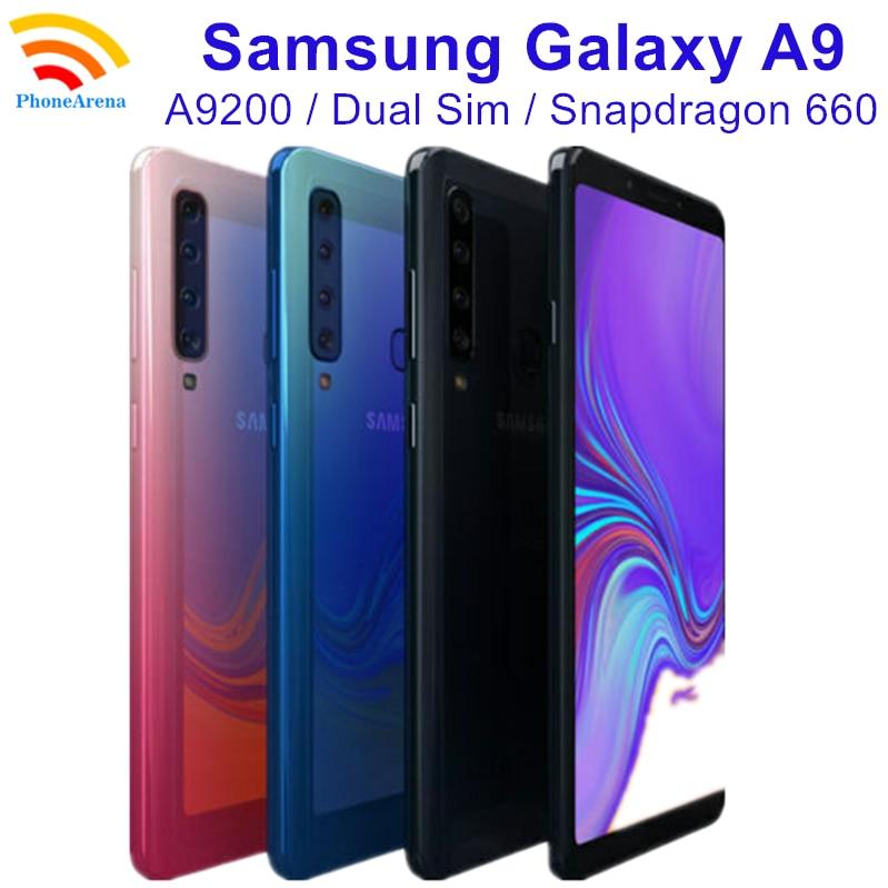 Перейти на Алиэкспресс и купить Оригинальный мобильный телефон Samsung Galaxy A9 2018 A9200 A9s A9 S-tar Pro, 90% дюйма, ОЗУ 6 ГБ, ПЗУ 6,3 ГБ, 4G LTE, Восьмиядерный процессор, 4 камеры, NFC, 128