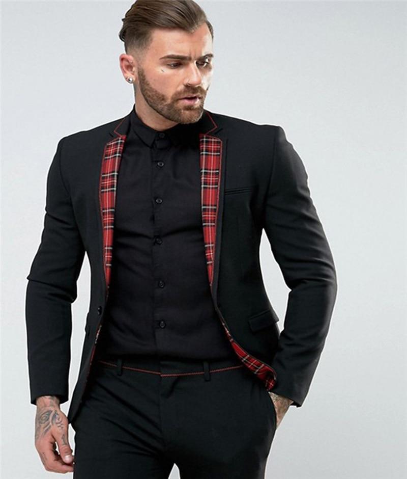 Handsome One Button Groomsmen Notch Lapel Groom Tuxedos  Men Suits Wedding/Prom/Dinner Best Blazer(Jacket+Pants+Tie) 136