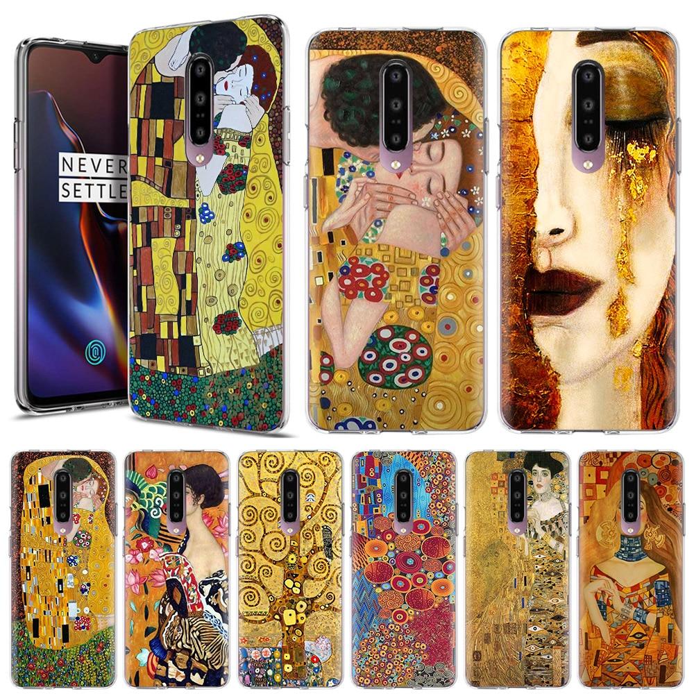 Caja del teléfono de silicona para OnePlus Z 8 Nord 5G 8 8 Pro 6 6T 7T 7 7 Pro 7T Pro 5G claro funda trasera cubierta beso por Gustav Klimt