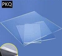 1-10pcs Multi-size 4mm Thickness Plastic Transparent Board Perspex Panel organic glass polymethyl methacrylate