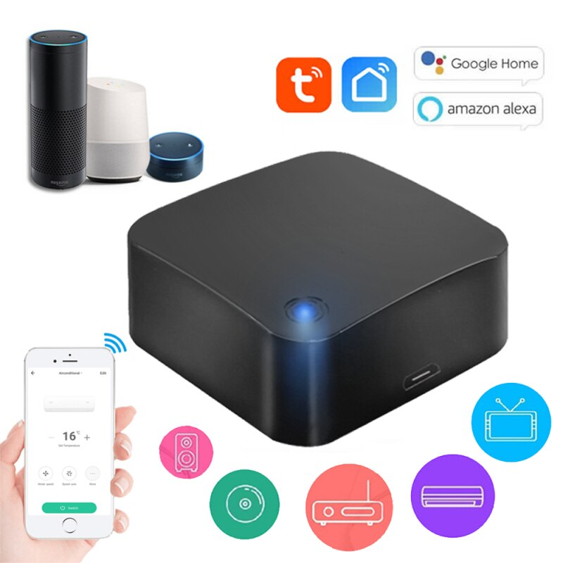 14w ir remote control red Universal Remote Control Tuya WiFi-IR Remote Controller Voice Control Your TV Air Conditioner Compatible With Alexa Google Home