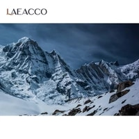 laeacco winter mountain top snow stone winter natural view photographic backgrounds photography backdrops photocall photo studio