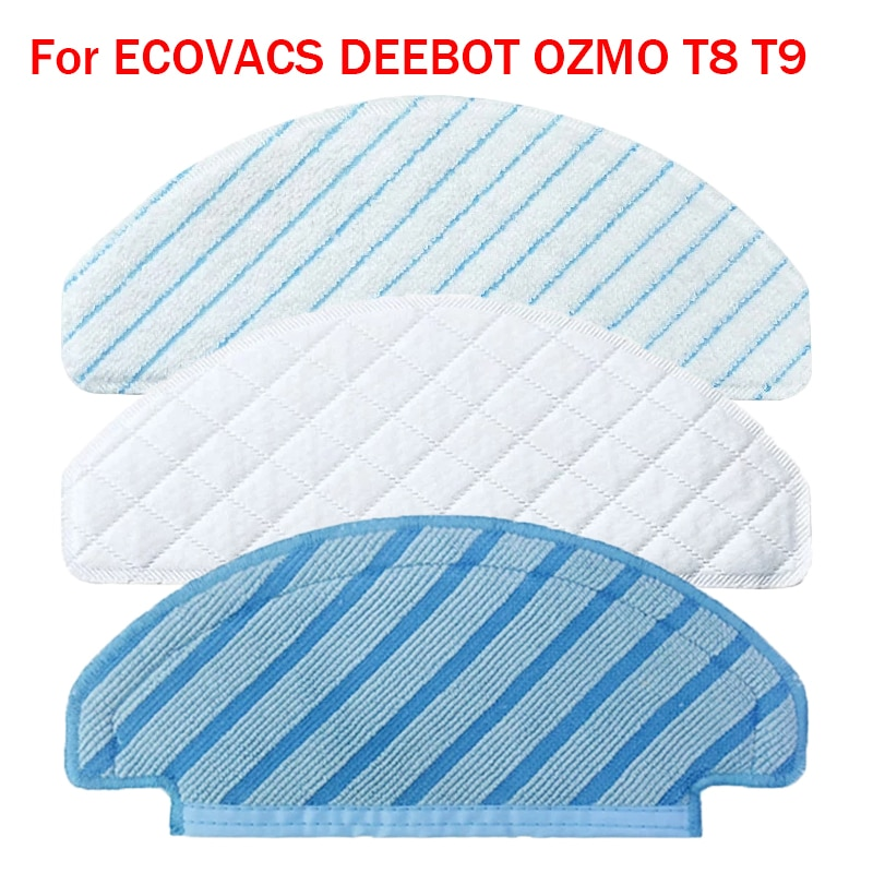 For ECOVACS DEEBOT OZMO T8 Max T8 AIVI T9 MAX T9 AIVI Vacuum Cleaner Disposable Mop Pads Microfiber Mop Cloth Rags Spare Parts