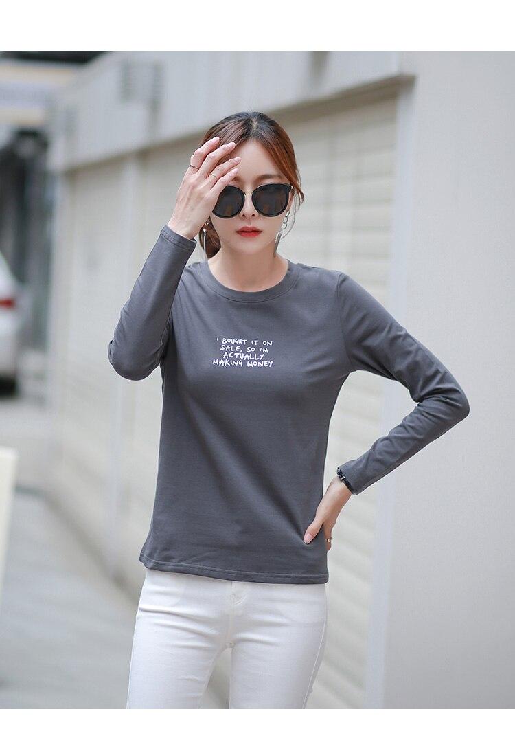 2020 verano moda gris camiseta mujer camiseta