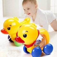Hochet pour bébés, corde de traction en canard, sonnette à main, secouant la voiture, sonnette de musique, jouets pour enfants