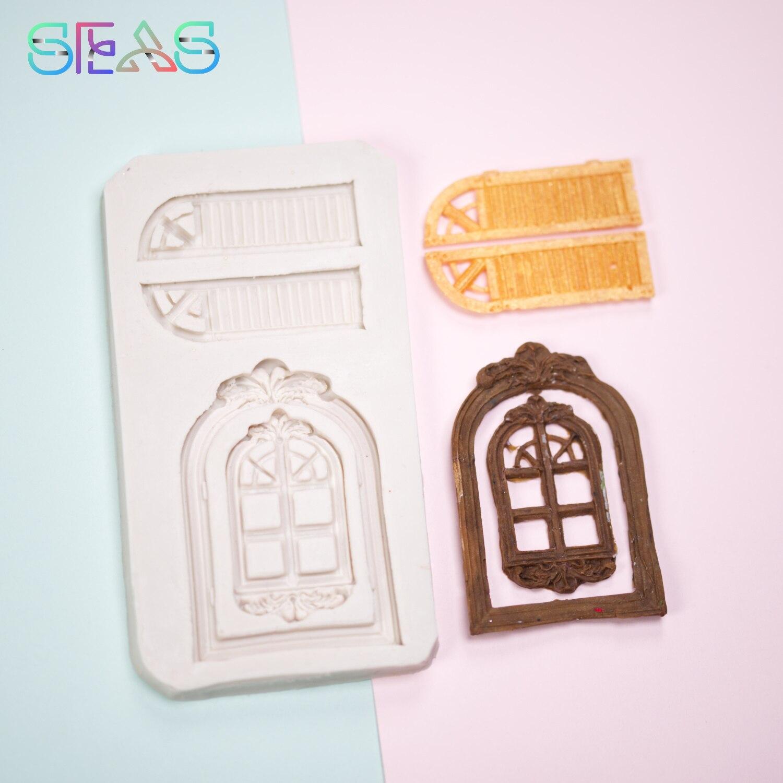 Силиконовые формы, форма для торта, инструменты для украшения дверей и окон, формы для шоколадной смолы, кондитерские инструменты, аксессуа...
