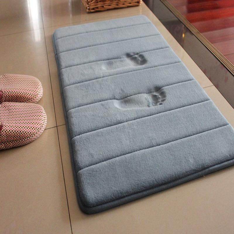 Новый 40x60 см домашний коврик для ванной нескользящий коврик для ванной мягкий коралловый флисовый коврик с эффектом памяти кухонный туалет...