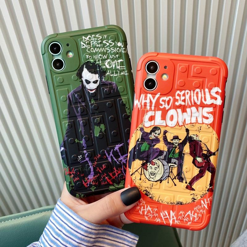 Funda de teléfono de silicona blanda con dibujo del Joker Joaquin Phoenix payaso para iPhone 11 X XS XR Max Pro se2 7Plus 8 8Plus