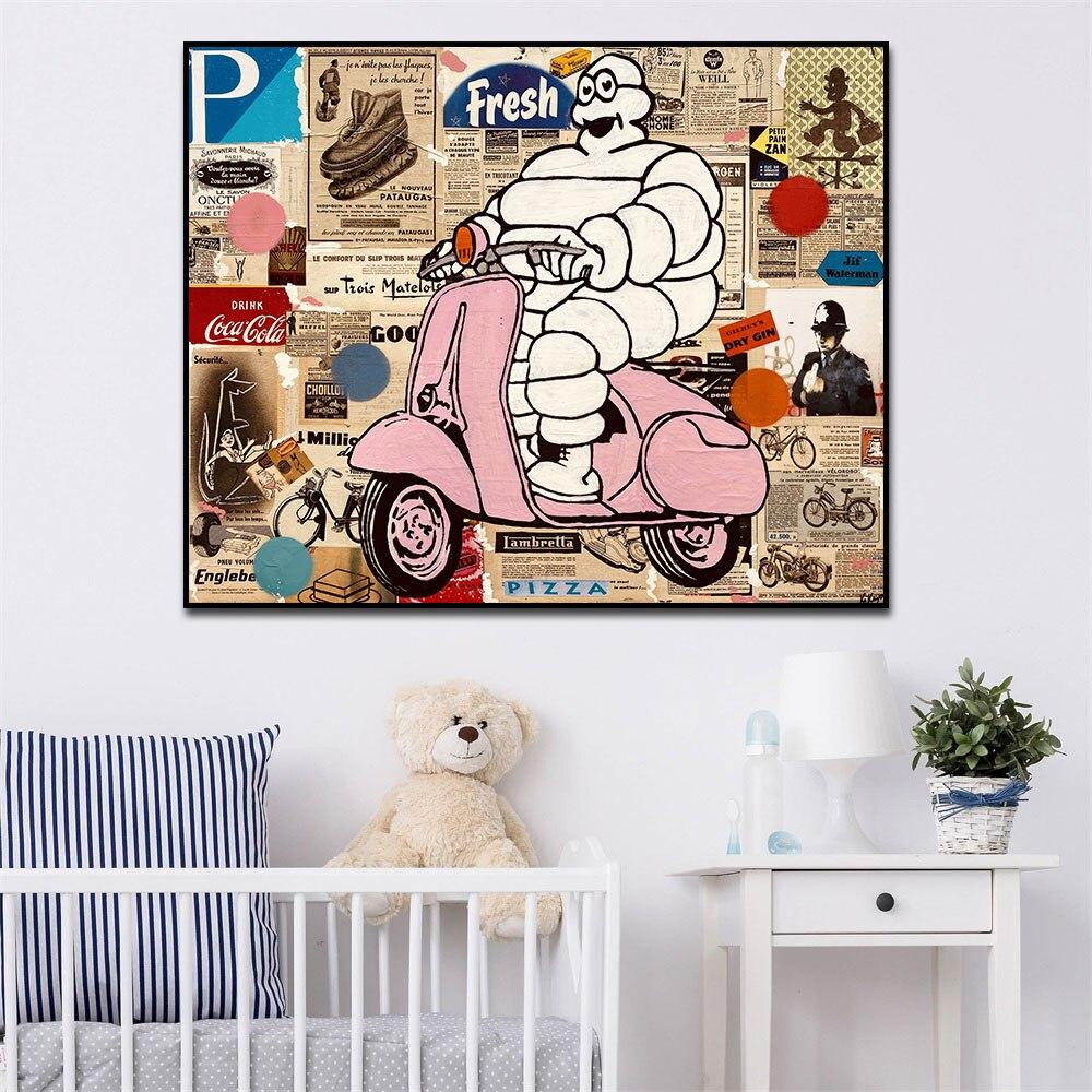 Постеры в стиле поп-арт в стиле ретро, холст, живопись, абстрактная Настенная картина, принты на холсте для гостиной, домашняя галерея, украш...