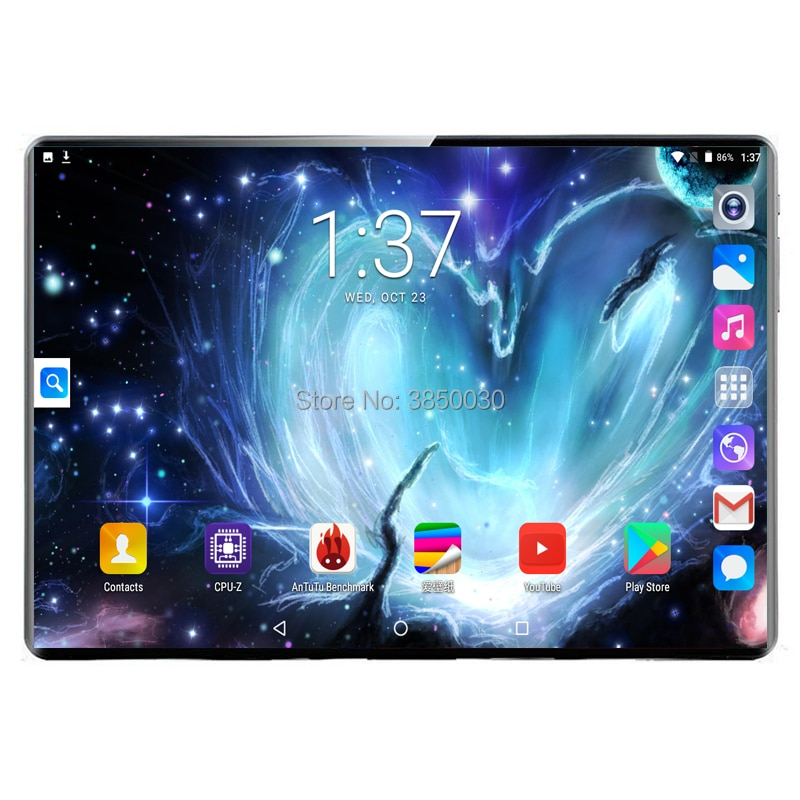 10.1 polegada tablet pc 3g 4g lte android 9.0 deca núcleo de metal comprimidos 8gb ram 128gb rom wifi gps 10 tablet ips wps