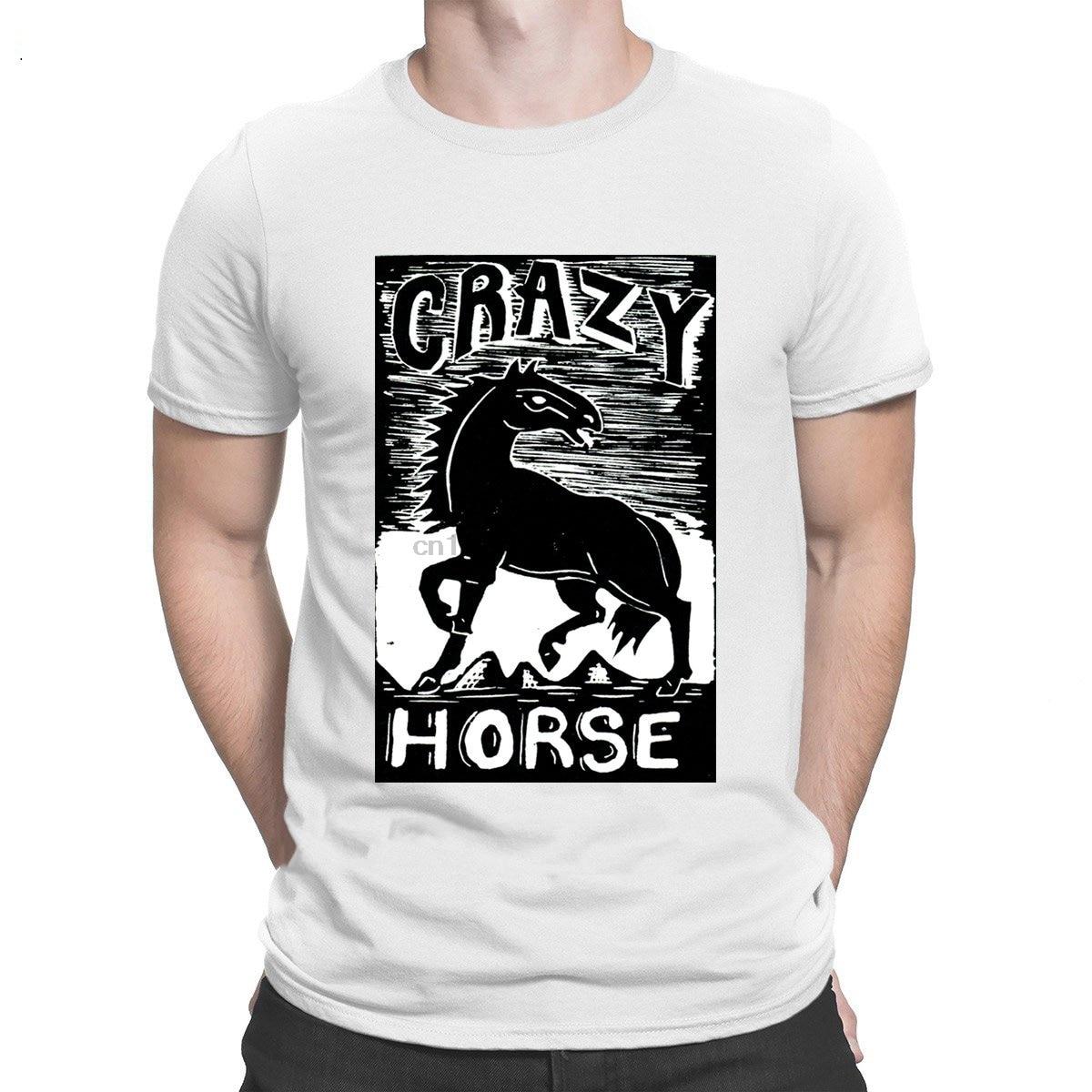 Crazy Horse Western Linocut camisetas de diseño de color sólido de manga corta, la nueva camiseta para hombres patrón de la mejor calidad de moda Primavera